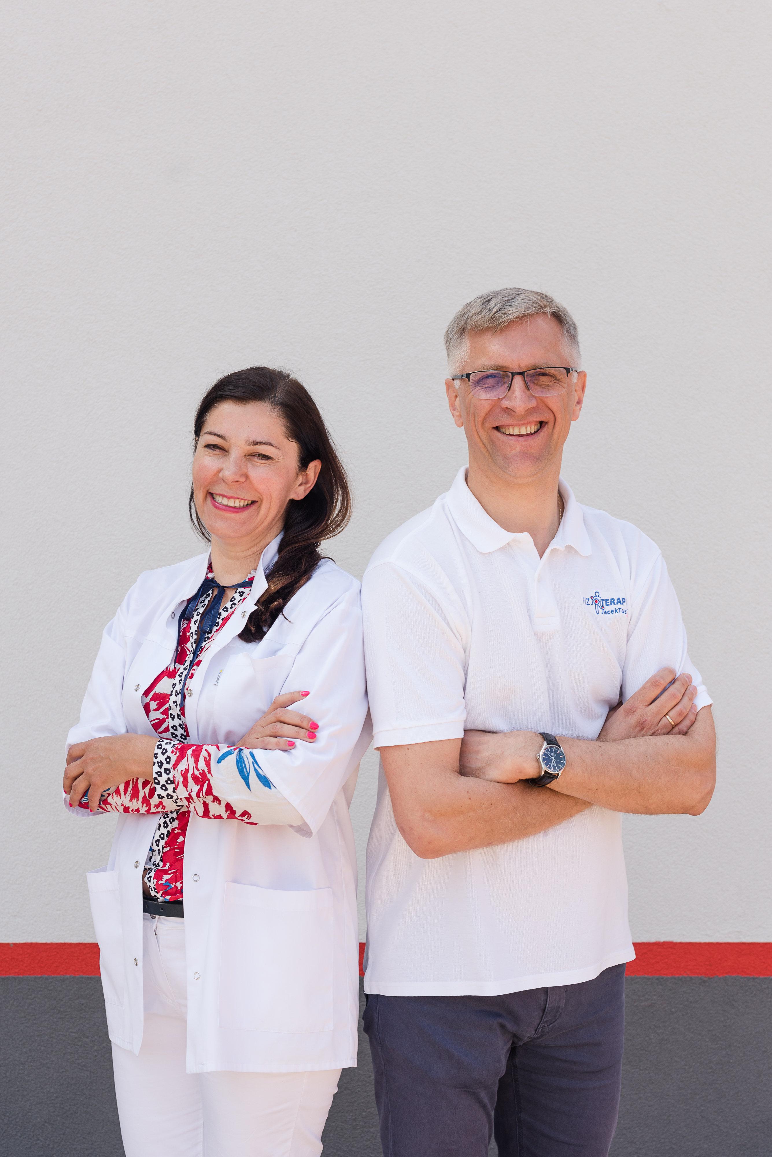 dr Beata Wrocławska i Jacek Tuz